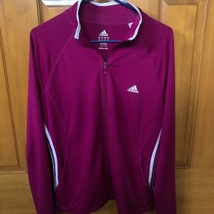 Women's Full Zip Adidas Athletic Jacket Size L